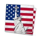 """20 serviettes en papier """"USA"""""""