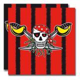 "20 serviettes ""Pirates sauvages"""