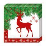 """20 Serviettes """"X-Mas Deer"""""""