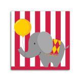 """16 serviettes """"Un éléphant au cirque"""""""