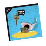 """20 serviettes """"Voyage de pirates"""""""