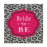 "16 serviettes ""Bride to be"""