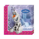 "20 serviettes ""La sublime reine des neiges - Disney"""