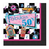 """16 serviettes """"Fabulous 50's"""""""