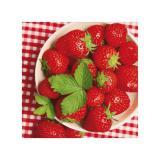 """20 serviettes """"Salade de fraises"""""""