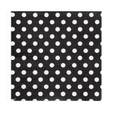 20 serviettes à pois - noir-blanc