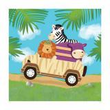 """16 serviettes """"Safari Tour"""""""