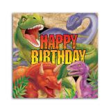 """16 serviettes Happy Birthday """"Dangereux dinosaures"""""""