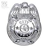 "Insigne ""City Police"" argentée 8 cm"