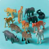 Jouets Animaux de la jungle 12 pcs