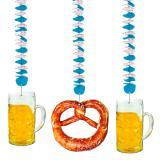"""3 décos spirale """"Fête de la bière"""""""