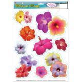 """Autocollants statiques """"Fleurs d'hibiscus"""" 9 pcs"""