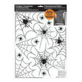 """Décoration de fenêtre """"Toiles d'araignées"""" 14 pcs."""
