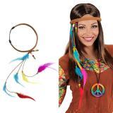 """Bandeau """"Hippie"""" avec plumes"""