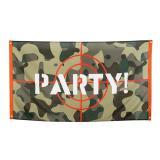 """Bannière en tissu """"Camouflage-Style"""" 150 x 90 cm"""