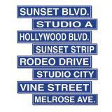 """Panneaux de rue """"Hollywood"""" 61 cm 4 pcs"""