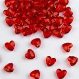 """Déco de table """"Diamants coeurs rouges"""" 28 g"""