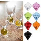 """6 diamants de déco """"Pierres précieuses colorées"""""""