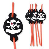 "8 pailles ""Jolly Roger"""