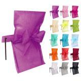 10 housses de chaise avec noeud en intissé