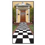 """Tapis de couloir """"Carreaux noirs et blancs"""" 61 x 305 cm"""