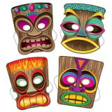 Masques Tiki 4 pcs