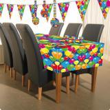 "Nappe ""Ballons multicolores"" 180 cm"