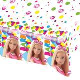 """Nappe """"Le monde coloré de Barbie"""" 180 x 120 cm"""