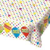 """Nappe """"Anniversaire multicolore"""" 1,3 x 1,8 m"""