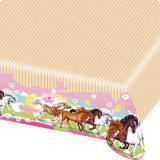 "Nappe ""Charming Horses"" 180 x 120 cm"