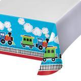 """Nappe """"Petit train coloré"""" 137 x 259 cm"""