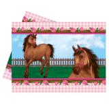 "Nappe ""Adorable cheval"" 120 x 180 cm"