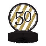 """Déco de table """"Black & Gold 50"""" 30 cm"""