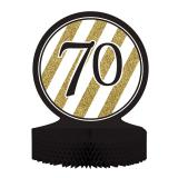 """Déco de table """"Black & Gold 70"""" 30 cm"""