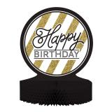 "Déco de table ""Black & Gold Happy Birthday"" 30 cm"