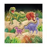 """Déco de table """"Dangereux dinosaures"""" 4 pcs"""