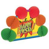 """Déco de table """"Happy Fiesta"""" avec papier crépon 25 cm"""