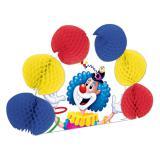 """Déco de table """"Clown jongleur"""" avec papier crépon 25 cm"""