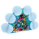 """Déco de table """"Récif corallien avec poissons"""" en papier crépon 25 cm"""