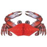 """Déco de table """"Crabe en papier crépon"""" 28 cm"""