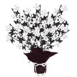 """Déco de table """"Fontaine de têtes de mort Black & White"""" 38 cm"""