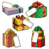 """Déco de table """"Cadeaux de Noël"""" 10 pcs."""