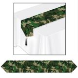"""Chemin de table """"Camouflage"""" 183 cm"""