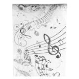 """Chemin de table """"Notes de musique"""" 30 x 500 cm"""