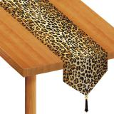 """Chemin de table """"Imprimé léopard"""" 183 cm"""