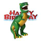 "Figurine pour gâteau ""Dino"" Happy Birthday 2 pcs."