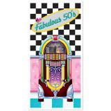"""Déco de porte """"Fabulous 50's Juke-box"""" 152 cm"""