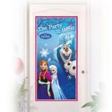 """Déco de porte """"La reine des neiges - Disney"""" 76 x 152 cm"""