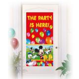 """Déco de porte """"La fête de Mickey"""" 76 x 152 cm"""