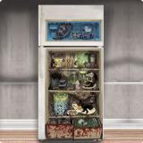 """Déco pour porte de frigo """"Menu façon zombie"""" 85 x 165 cm"""